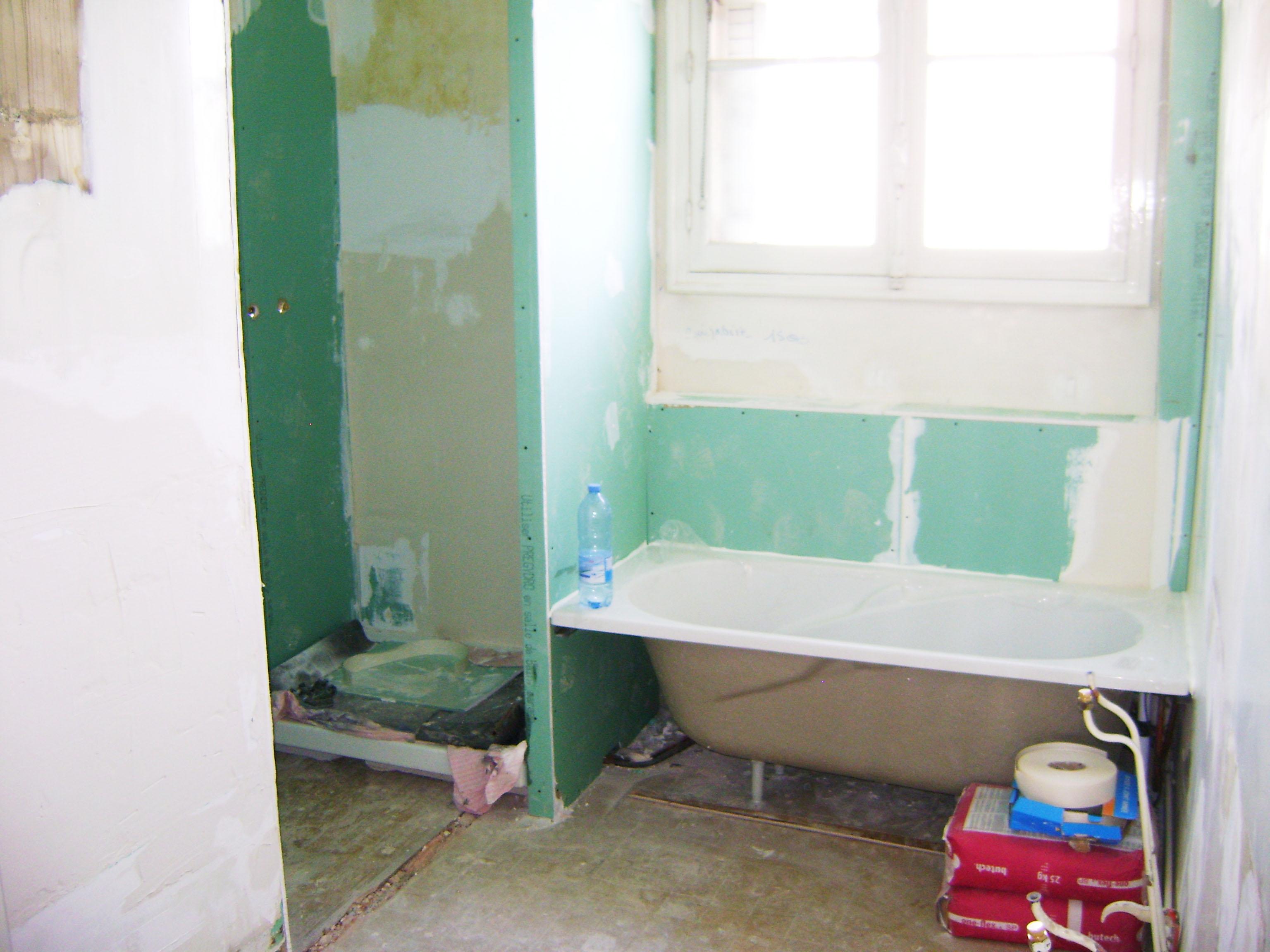 cr ation salle de bains dans un appartement t4 renoveo. Black Bedroom Furniture Sets. Home Design Ideas