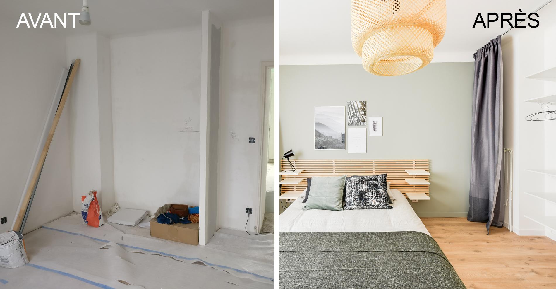 Avant / Après - Rénovation intégrale d'un appartement