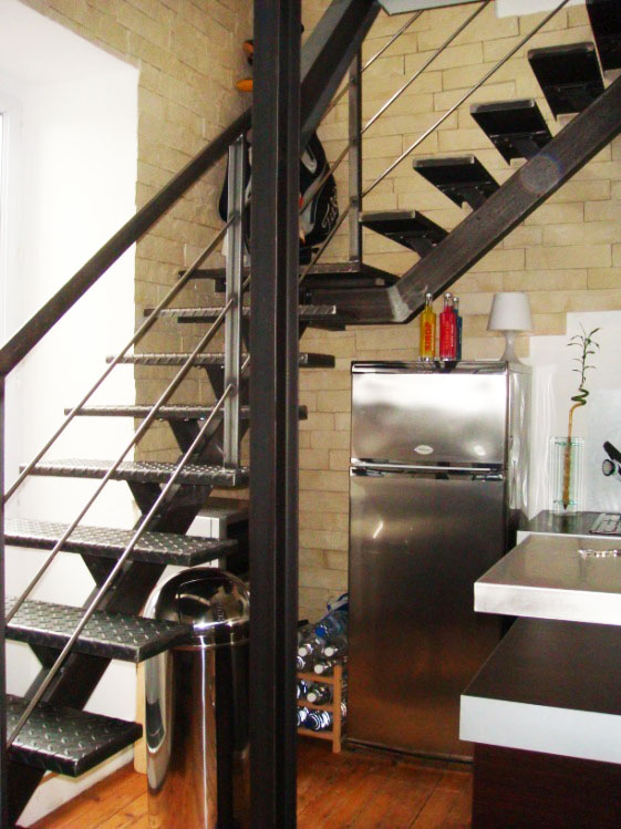 remplacement escalier style industriel - renoveo