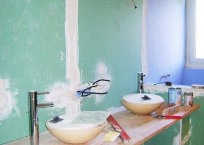 Salle de bain chantier