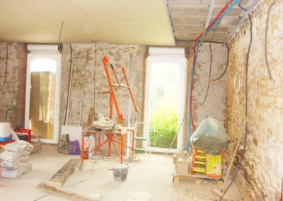 Séjour salon renovation nantes