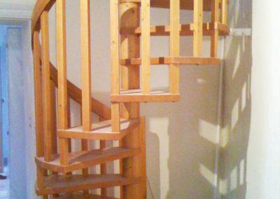 Escalier colimaçon avant rénovation