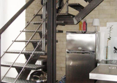 Remplacement escalier style industriel