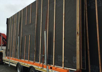 construction livraison ossature bois avec pare pluie