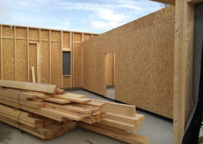 Construction murs posés