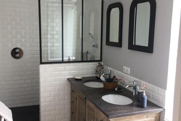 Rénovation d'une salle de bains style rétro chic