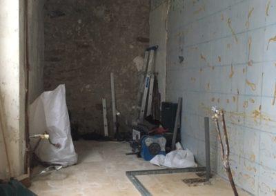 Salle de bains pendant la rénovation