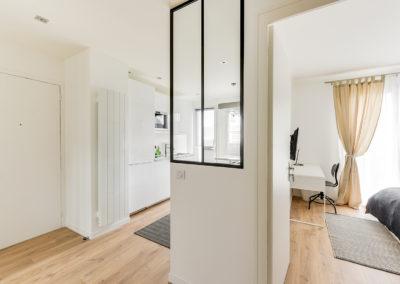 Rénovation et agencement d'un appartement destiné à la location - Hall d'entrée, verrière