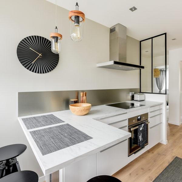 Rénovation et agencement d'un appartement destiné à la location - cuisine et verrière