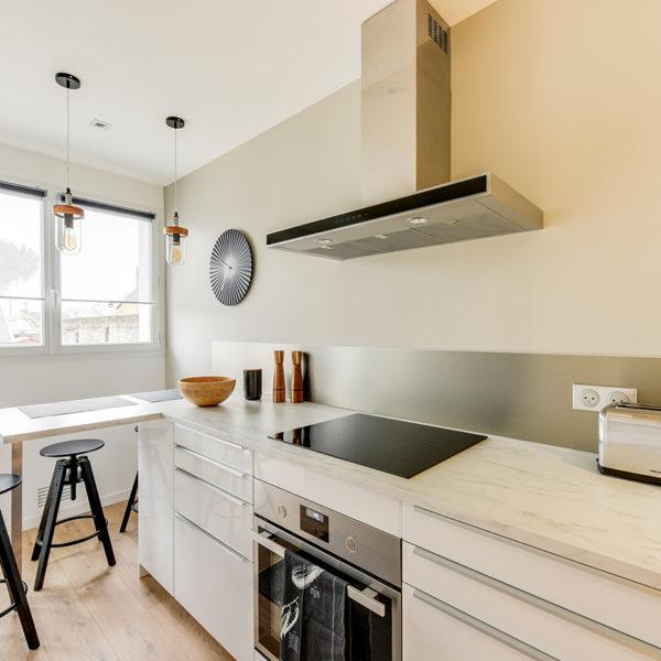 Rénovation et agencement d'un appartement destiné à la location - cuisine