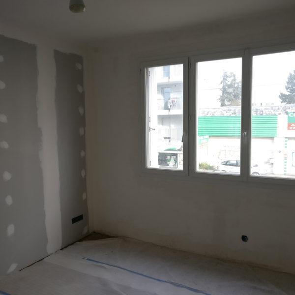 Rénovation et agencement d'un appartement -Pendant / réfection des chambres