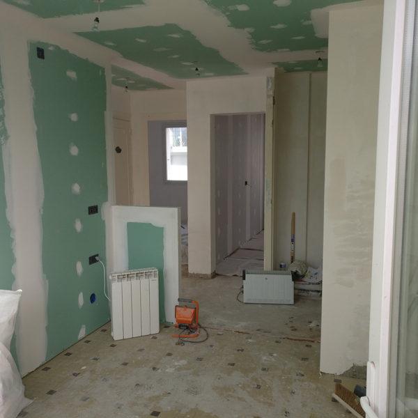 Rénovation et agencement d'un appartement -Pendant / réagencement de la future cuisine