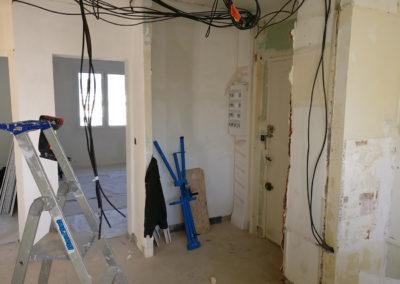 Rénovation et agencement d'un appartement -Avant / hall d'entrée - cuisine