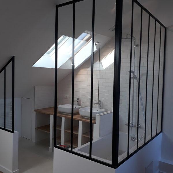 Création d'une suite parentale / salle de bains avec verrière