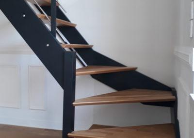 Pose d'un escalier / après travaux