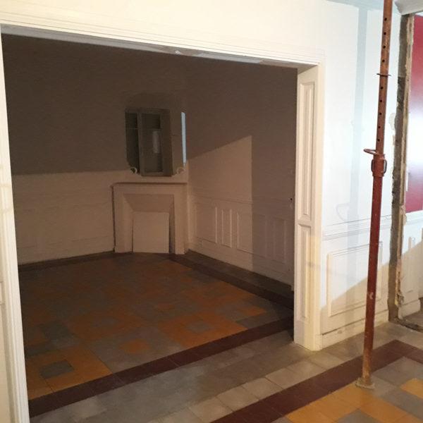Ouverture du mur porteur / salle à manger avant travaux