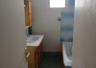 Rénovation et agencement d'un appartement - Salle de bains avant
