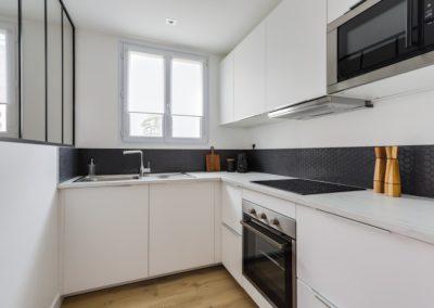 Rénovation et agencement d'un appartement - Cuisine avec verrière