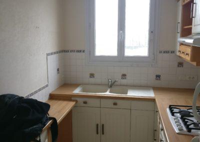 Rénovation et agencement d'un appartement - Cuisine avant