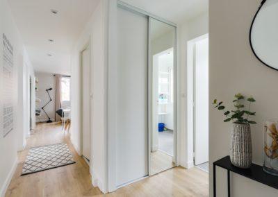 Rénovation et agencement d'un appartement - Hall d'entrée, aménagement placards