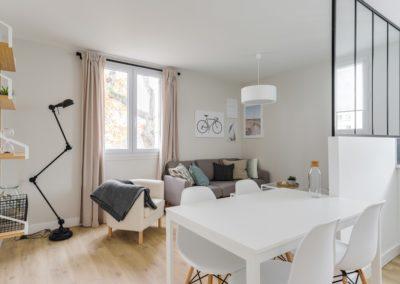Rénovation et agencement d'un appartement - Salon/séjour